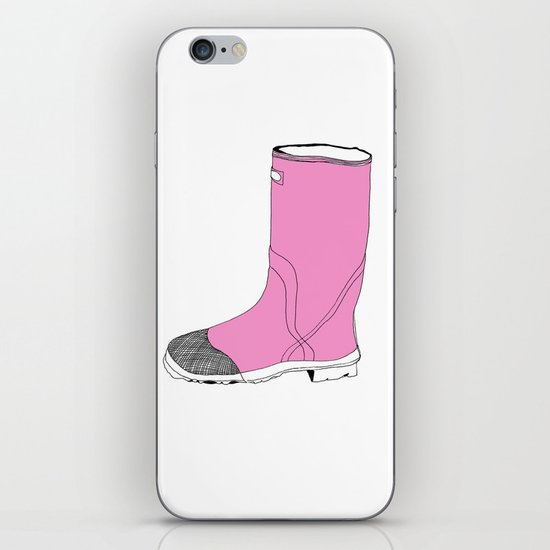 Whimisical Wellie in Pink iPhone & iPod Skin