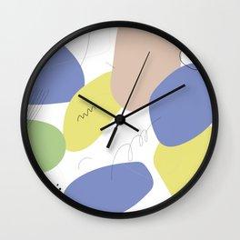 Colourful spots Wall Clock