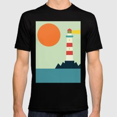 Lighthouse Mens Fitted Tee LARGE Black