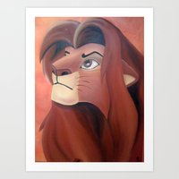 simba Art Prints featuring Simba by Jgarciat