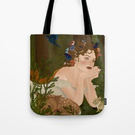 Mielikki, Finnish goddess of the forest Tote Bag