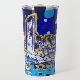 Brisbane City Art Print Travel Mug