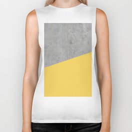 Concrete and Primrose Yellow Color Biker Tank