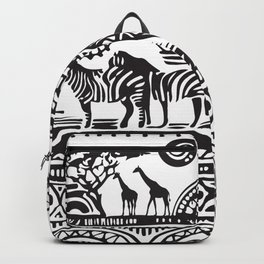 African Tribal Pattern No. 17 Backpack