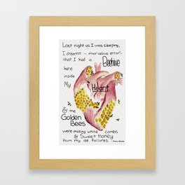Beehive in My Heart Framed Art Print