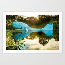 Blue Whale of Rt 66 - Catoosa Oklahoma Art Print