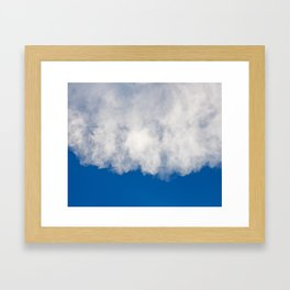 Cotton candy in blue Framed Art Print