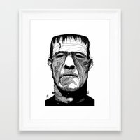 frank Framed Art Prints featuring Frank by Ben BASSO