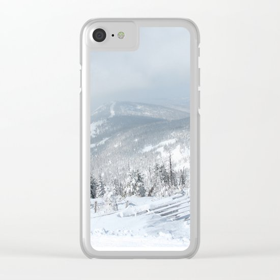Blue mountains 2 Clear iPhone Case