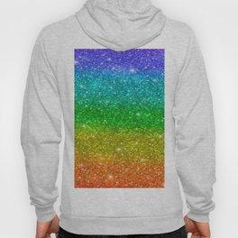 Glitter Rainbow Pride Flag Hoody