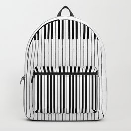 The Piano Black and White Keyboard Backpack