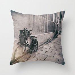 street photo BICYCLES #street #streetphoto Throw Pillow