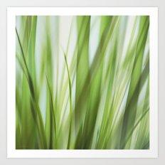 Grass talk Art Print