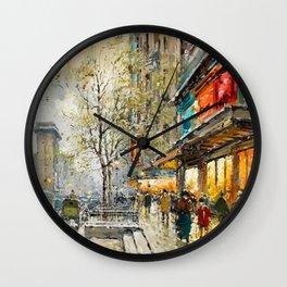 La Porte Saint-Denis, Paris by Antoine Blanchard Wall Clock