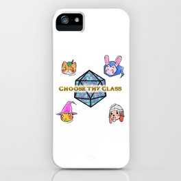 Fantasy Role-Playing Game RPG Kawaii Animals iPhone Case