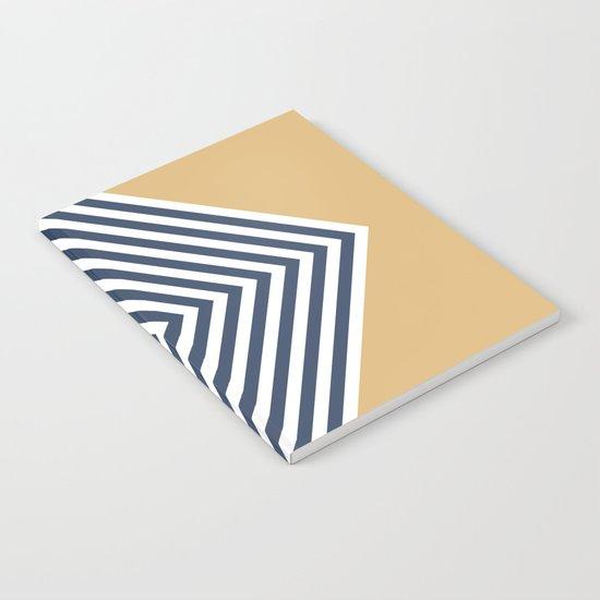 Gold & Navy Chevron Notebook