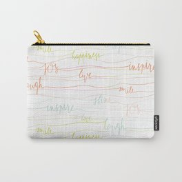 Happiness Cursive Quotes Carry-All Pouch