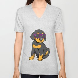 Cute Doberman Puppy Gift Doberman Pinscher Print Unisex V-Neck