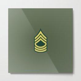 Master Sergeant (OD Green) Metal Print