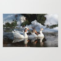 ducks Area & Throw Rugs featuring Ducks by OSCAR GBP