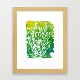 Summer Herbs, abstract floral Framed Art Print