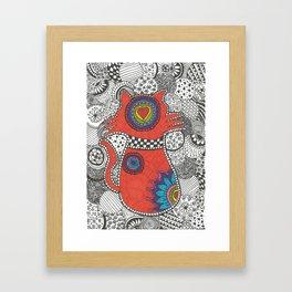 Kitty-tangle Framed Art Print