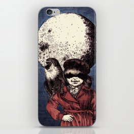 Posing on the moon iPhone Skin
