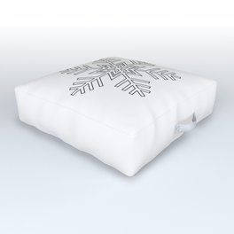 Snowflake | Winter | Hygge | Scandi | Black and White | Outdoor Floor Cushion