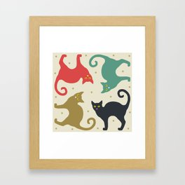 Cats and Cream Framed Art Print