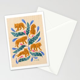 Jungle Cats | Blue Stationery Cards