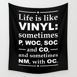 Life Is Like Vinyl -Record Collector Wall Tapestry