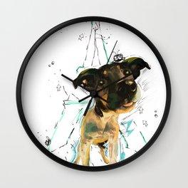 A Dog in Paris Wall Clock