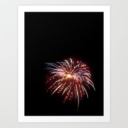 Fireworks on the Fourth - Red and Blue Art Print