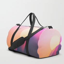 Sun Desert Mountain Sky Duffle Bag