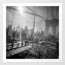 Brooklyn Bridge 3x Art Print