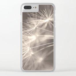 Falling Apart Sepia Clear iPhone Case