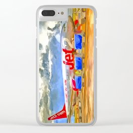 Pop Art Airliner Clear iPhone Case