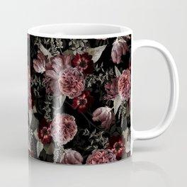 Dutch Vintage Midnight Roses Bouquets Pattern Coffee Mug