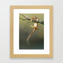 Gecko Correlophus Ciliatus Framed Art Print