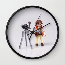 Photographer man. Playmobil Wall Clock