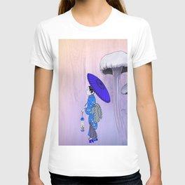 Geisha Walking with a parasol T-shirt
