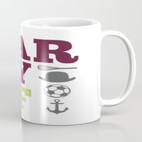 larry stylinson Mugs featuring Larry AF - Harry Styles and Louis Tomlinson by pretty.