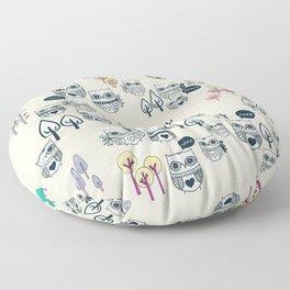 Forest Of Owls Floor Pillow
