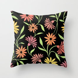 Stylized Floral Pattern 5 Throw Pillow