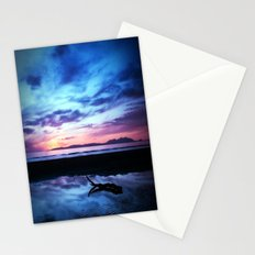 Sunset Over Troon Beach Stationery Cards