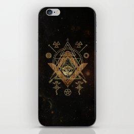 Mystical Sacred Geometry Ornament iPhone Skin