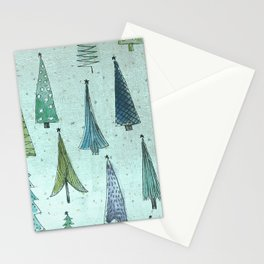 MidCentury Christmas Trees 1.0 Stationery Cards