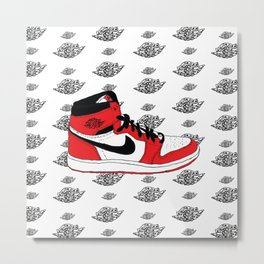 Jordan 1 Chicago Metal Print