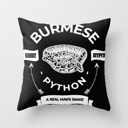 Burmese Python Real Man Throw Pillow