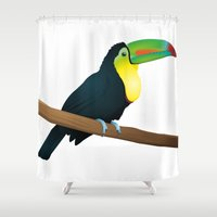 toucan Shower Curtains featuring Toucan by Li-Bro